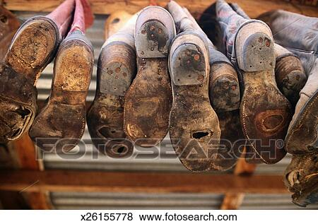 Pictures of Worn Soles of Cowboy Boots x26155778 - Search Stock ...