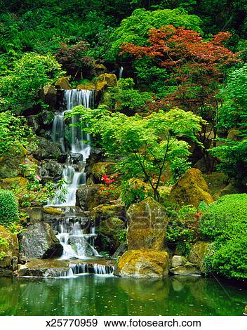 Stock Photograph Of Japanese Garden In Portland Oregon X25770959 Search Stock Photography