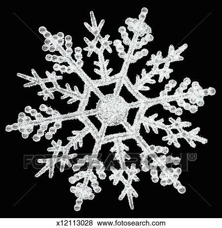 Black And White Snowflake Background 39 White Snowflake Against Black