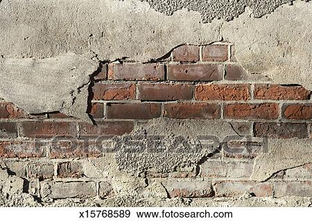 Stock Photograph Of Crumbling Brick Wall X15768589 Search Stock Photography