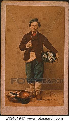 Banque d'Illustrations - les, poissonnier x13461947 ...