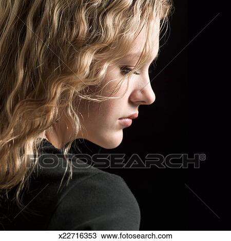 Adolescent blonde en option