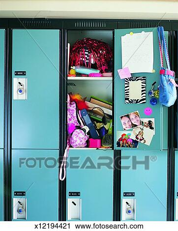 Stock Photography of Open School Locker x12194421 - Search ...