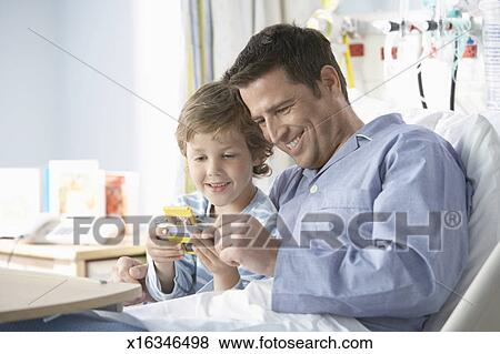 Computer Game With His Son