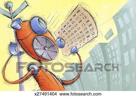 绘画/图画 - 机器人, 出售, 报纸 x27491404 - 搜寻