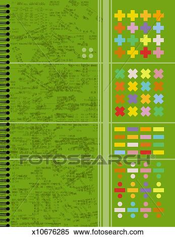 Banque d'Illustrations - math, cahier x10676285 ...