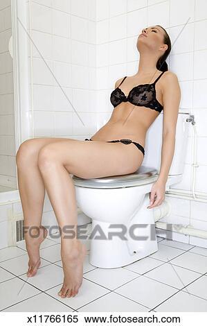 eingeschlafen toilette