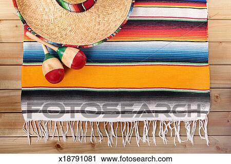 banques de photographies mexicain serape tapis. Black Bedroom Furniture Sets. Home Design Ideas