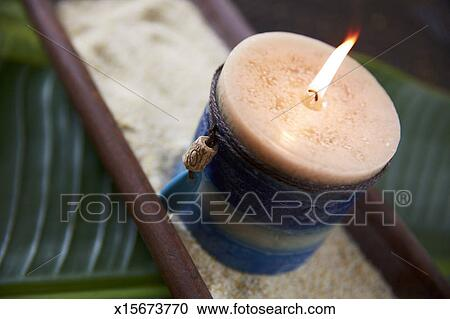 Stock Photography Of Candle In Zen Atmosphere X15673770