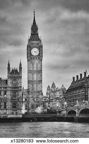 Stock Foto - london, big ben, schwarz weiß. Fotosearch - Suche Stock ...