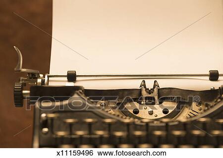 Antique typewriter with blank  Vintage Typewriter Paper Photography