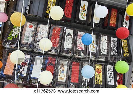 stock foto asiatische lampen mit buddha gesicht. Black Bedroom Furniture Sets. Home Design Ideas