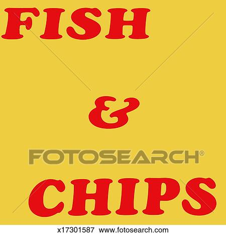 Fish And Chips Sign Stock Images RoyaltyFree Images