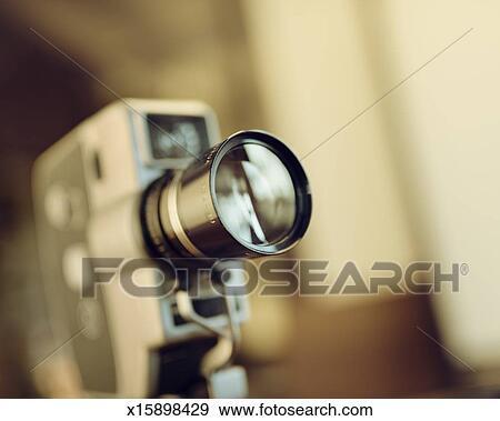 Stock Photograph of Retro analog film movie camera x15898429 ...