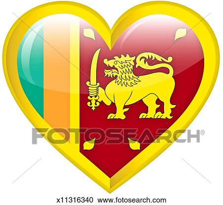 Heart National Flag Proud Of Sri Lanka