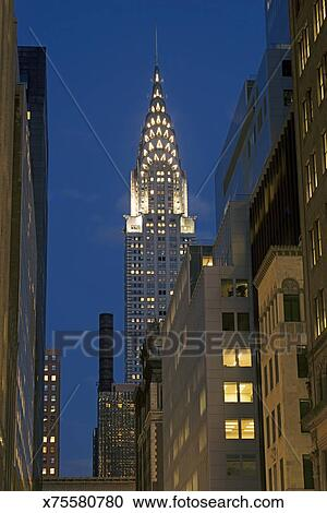 Stock photography of chrysler building nyc x75580780 for Chrysler building mural