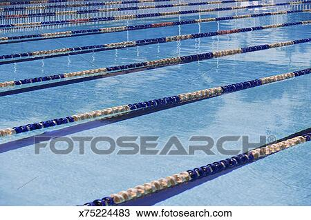 lane dividers in olympic size swimming pool