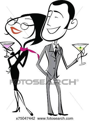 clip art of man and woman drinking martinis x75047442 search rh fotosearch com man and woman clip art free men and women clipart