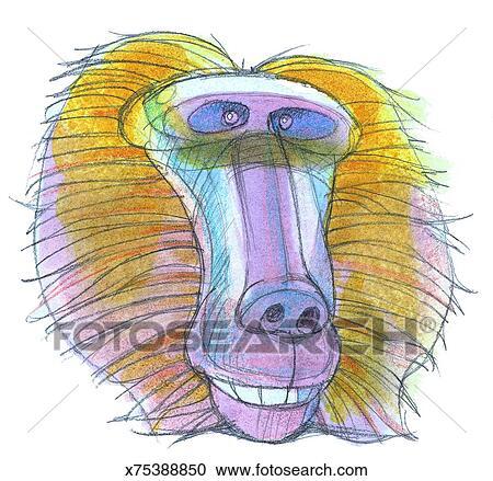Banque d 39 illustrations babouin x75388850 recherchez - Dessin de babouin ...