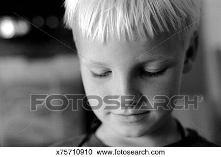 boy looking down