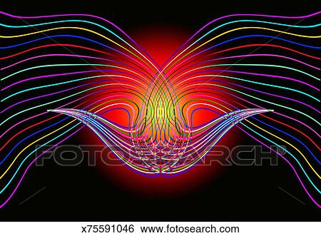Curved Line Design Art : Stock illustration of coloured abstract curved line design