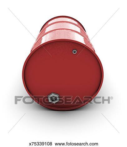 Oil Barrel Drawing Red Oil Barrel