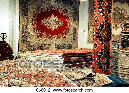 Banque De Photo Oriental Tapis Dans A Magasin 056012