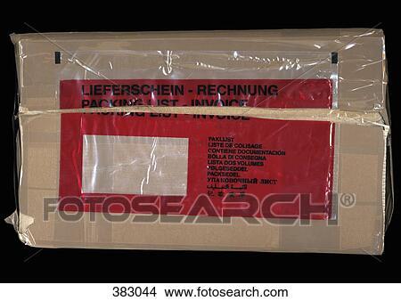 stock foto paket mit rechnung etikett 383044 suche stockbilder wandbilder bilder und. Black Bedroom Furniture Sets. Home Design Ideas