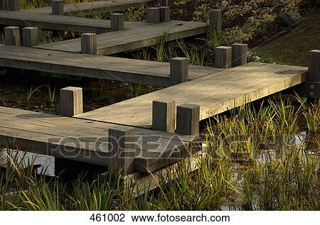 Banque de photo pont sentier dans a zen jardin for Pont jardin zen