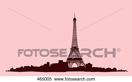 Stock Illustration Of Eiffel Tower Paris France 465005