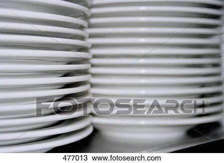stock photo of piles of white plates 477013 search stock. Black Bedroom Furniture Sets. Home Design Ideas
