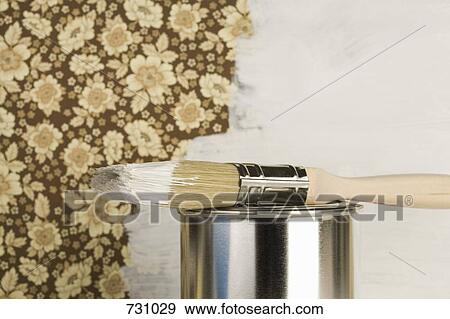 banque de photographies a moiti mur peint a. Black Bedroom Furniture Sets. Home Design Ideas