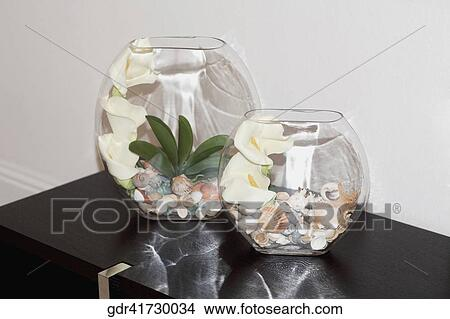 Stock Photo of Close-up of flower vases on a table gdr41730034 ...