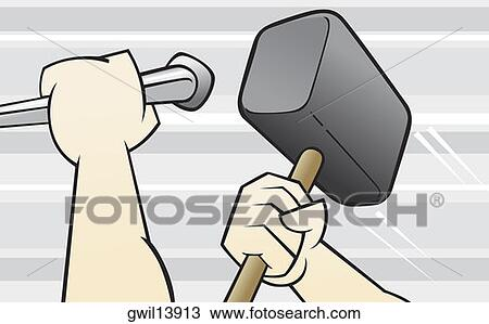 chisel and hammer coloring pages - photo#15