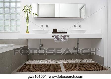 stock fotografie innere von a badezimmer gwa101001 suche stockfotos fotos prints. Black Bedroom Furniture Sets. Home Design Ideas