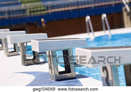 Stock Photograph Of Diving Platform At A Swimming Pool Gwg104059 Search Stock Photography