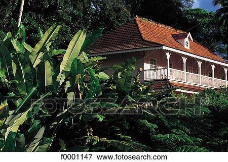 House colonial style martinique french west indies architecture