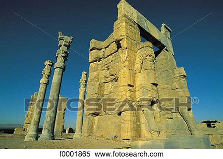 Stock image of vestige ruin antiquity iran india for Archaeological monuments in india mural paintings
