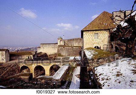 Picture of France, Franche Comte, the Citadel of Besancon in winter ...