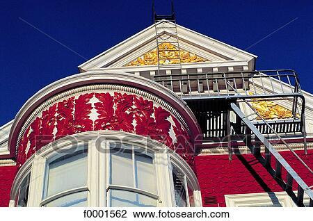 Archivio fotografico stati uniti california san for Costruire una casa in stile vittoriano
