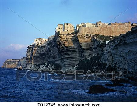 Stock image of france corsica bonifacio the citadel for Bonifacio mural