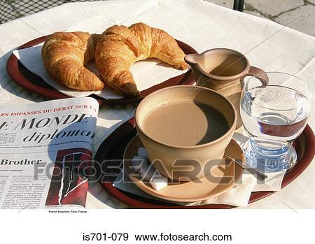 Archivio fotografico francese colazione parigi for Colazione parigi