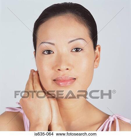 stock foto portr t von a sch n asiatische frau is635. Black Bedroom Furniture Sets. Home Design Ideas