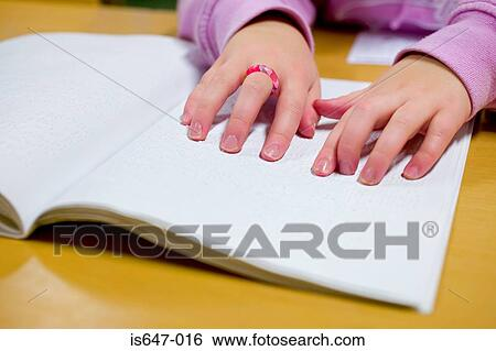 Stock Images Of Blind Girl Reading Braille Is647 016