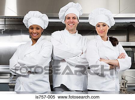 Stock afbeelding drie chef koks is757 005 zoek stock foto 39 s fresco beelden fotografie n - Muurschildering volwassen kamer ...