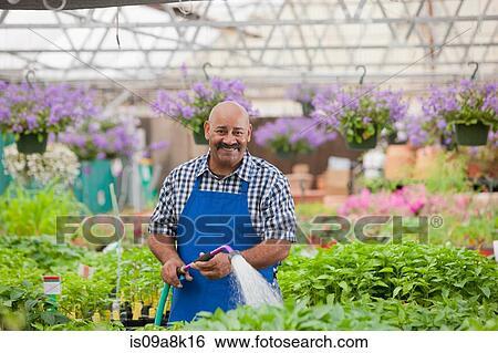 Colecci n de im genes maduro jardinero regar planta for Jardinero en ingles