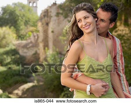 Neck Kissing Images Man Kissing Woman on Neck