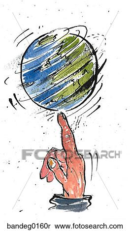 Stock Image of Earth, globe, world, spinning, the whole world in ...