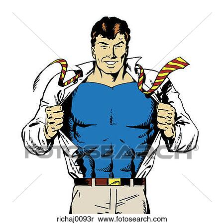 Superman Chest Drawing Superhero Superman Strong