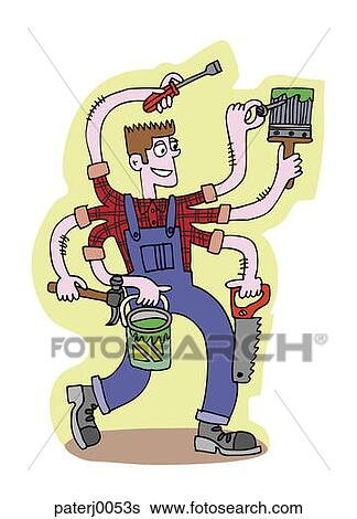 Stock Illustration of Jack of All Trades paterj0053s ...